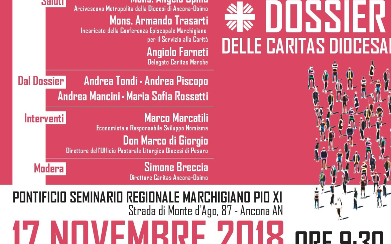 Presentazione Dossier regionale Caritas Marche: 17 novembre 2018