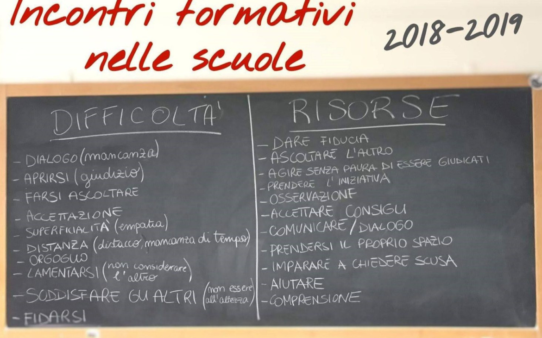 Incontri formativi nelle scuole