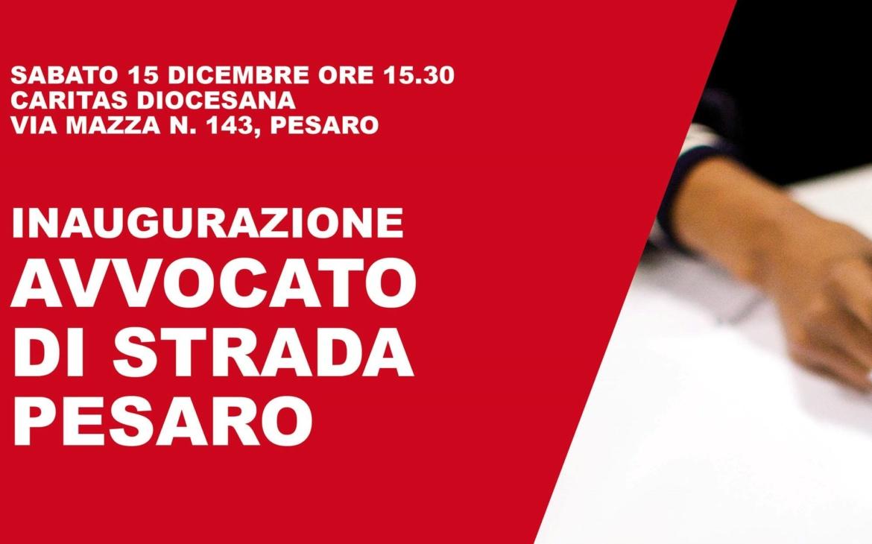 Inaugurazione Avvocato di strada a Pesaro: sabato 15 dicembre 2018