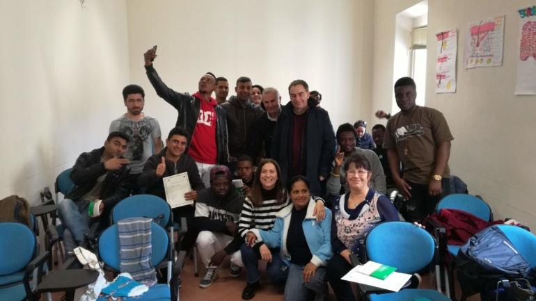 26 febbraio 2019: consegna attestati al corso di lingua italiana per migranti