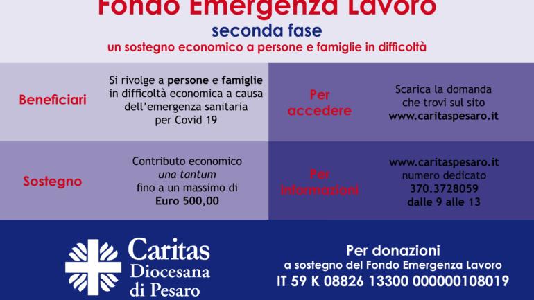 Fondo Emergenza Lavoro – apertura seconda fase